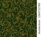 seamless floral damask pattern...   Shutterstock . vector #1363712783