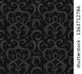 ribbon black isolated seamless...   Shutterstock . vector #1363712786
