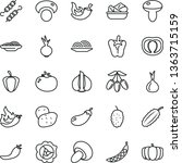 thin line vector icon set  ... | Shutterstock .eps vector #1363715159