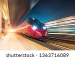 night railway station  a... | Shutterstock . vector #1363716089