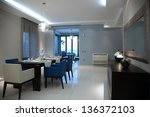 interior of a luxury apartment... | Shutterstock . vector #136372103