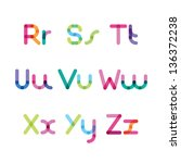 bright letters set r z | Shutterstock .eps vector #136372238