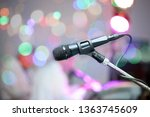 microphone on stage during... | Shutterstock . vector #1363745609
