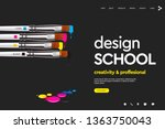 web page design template for... | Shutterstock .eps vector #1363750043