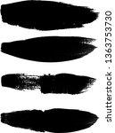 grunge paint roller . vector... | Shutterstock .eps vector #1363753730