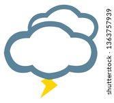 vector weather icons. weather...   Shutterstock .eps vector #1363757939