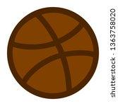 basket ball. basketball ball.... | Shutterstock .eps vector #1363758020
