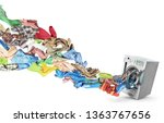 clothing flies out of washing... | Shutterstock . vector #1363767656