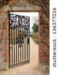 A Cast Iron Garden Gate...