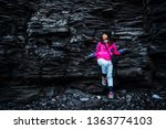 Traveler Hiking In Rocky...