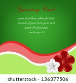 greeting card  flowers on a... | Shutterstock .eps vector #136377506