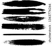 a set of brush strokes of black ... | Shutterstock .eps vector #1363776266
