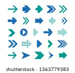 set arrows mark flat style... | Shutterstock .eps vector #1363779383