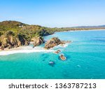 the pass at byron bay from an... | Shutterstock . vector #1363787213