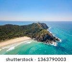 tallows beach at byron bay from ... | Shutterstock . vector #1363790003