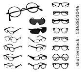 glasses eyeglasses spectacles...   Shutterstock .eps vector #1363801046