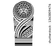 tribal tattoo maori pattern ... | Shutterstock .eps vector #1363809476