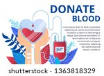donate blood and health care... | Shutterstock .eps vector #1363818329