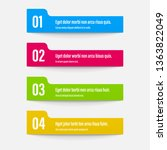 infographics banners. a vivid... | Shutterstock .eps vector #1363822049