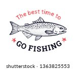 Salmon Fish T Shirt Print...