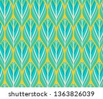indian style feathers seamless... | Shutterstock .eps vector #1363826039