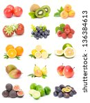 collection of fruits isolated...   Shutterstock . vector #136384613