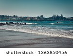 very long beach   natural and... | Shutterstock . vector #1363850456