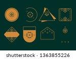 geometric shaped badge...   Shutterstock .eps vector #1363855226