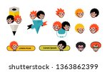 cartoon characters geeks in a... | Shutterstock .eps vector #1363862399