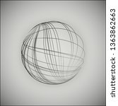 3d sphere consisting of... | Shutterstock .eps vector #1363862663