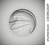 3d sphere consisting of... | Shutterstock .eps vector #1363862669