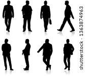 black silhouette group of... | Shutterstock . vector #1363874963