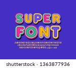 vector colorful creative... | Shutterstock .eps vector #1363877936