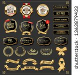 luxury premium golden badges... | Shutterstock .eps vector #1363879433