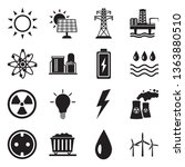 energy icons. set 2. black flat ... | Shutterstock .eps vector #1363880510