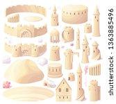 vector castle sand  sandcastle... | Shutterstock .eps vector #1363885496