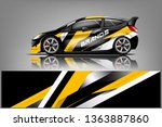 car decal wrap design vector.... | Shutterstock .eps vector #1363887860