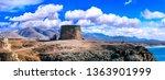 landscapes of volcanic... | Shutterstock . vector #1363901999