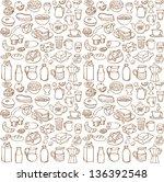 various breakfast icons... | Shutterstock .eps vector #136392548
