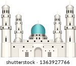 arabic architecture. old mosque.... | Shutterstock .eps vector #1363927766