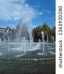 fountain in the square. photo... | Shutterstock . vector #1363930280