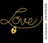 chain print.  the word love... | Shutterstock .eps vector #1363930430
