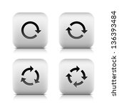 4 icon with arrow sign  set 02 .... | Shutterstock .eps vector #136393484