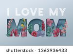 happy mothers day background... | Shutterstock .eps vector #1363936433