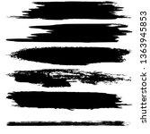 a set of brush strokes of black ...   Shutterstock .eps vector #1363945853