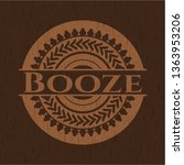 booze wooden emblem | Shutterstock .eps vector #1363953206