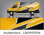 van wrap design. wrap  sticker... | Shutterstock .eps vector #1363955936