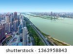 aerial view of the city ...   Shutterstock . vector #1363958843