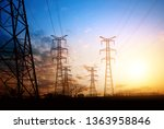 dense high voltage towers  the...   Shutterstock . vector #1363958846