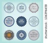 round badges. eps10. | Shutterstock .eps vector #136396658